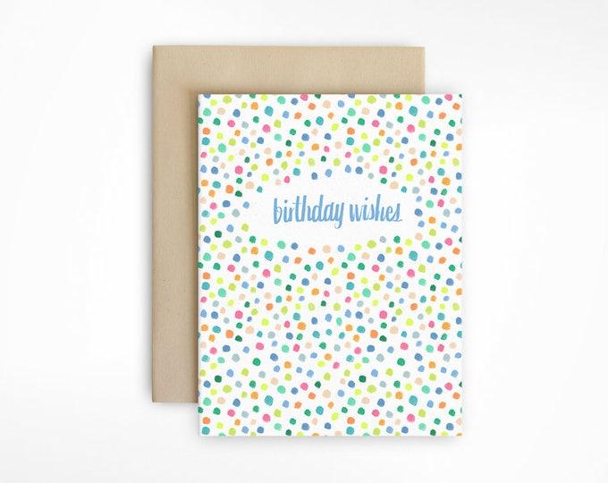 Birthday Card - Confetti Dots Greeting Card