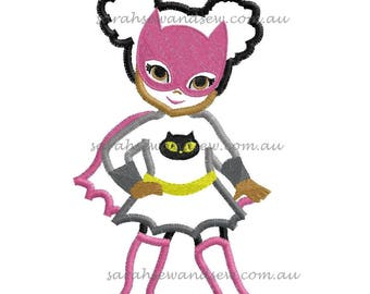 Catwoman Super Hero Machine Embroidery Design