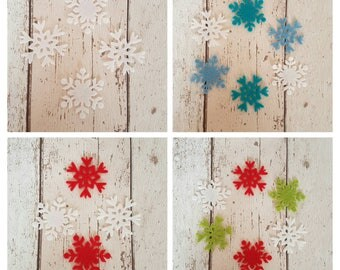 Felt Snowflakes, die cut snowflakes, ornate snowflakes, Christmas die cuts, Christmas Craft, Christmas snowflakes, die cut felt, Christmas