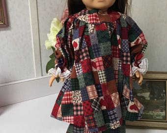 Two piece prarie dress with patchwork quilt pattern