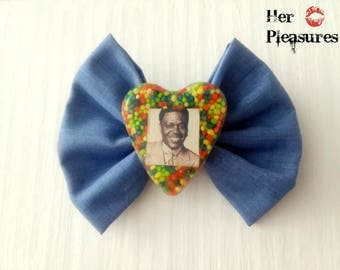 Bernie Mac RIP Memorial Hair Bow