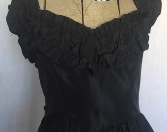 1970's Black Formal Gunne Sax