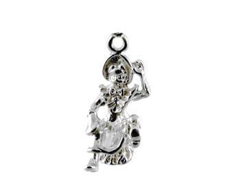 Sterling Silver Little Miss Muffet Charm For Bracelets