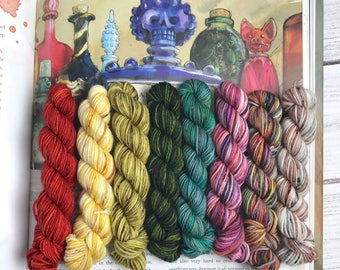 Potion-Making Kit Mini Set - Set of 8 - 46 Yards, 10g - Harry Potter - Superwash Merino/Nylon Blend - Fingering Sock Weight Yarn