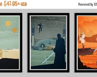 20% OFF SALE WOW Star Wars Prequel Trilogy Poster Set of 3