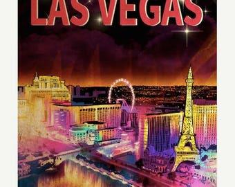 20% OFF SALE Fabulous Las Vegas Travel Poster