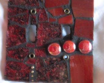 Double toggle mosaic switch plate