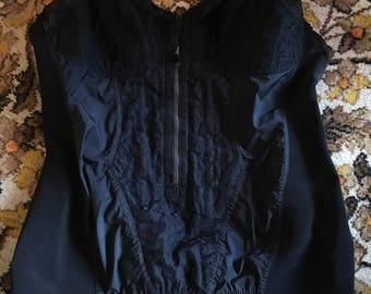 Vintage  50's  black corselet burlesque
