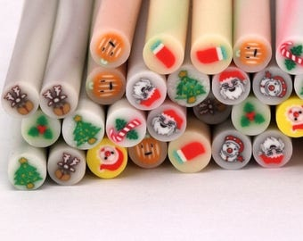 Fathers Day Sale 50 Mixed Holiday Clay Canes
