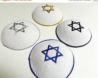 SUMMER SALE EVENT Bar mitzvah Kippah Yarmulke bar mitzvah Yamaka Jewish Judaica Kippa Shabbat Star Of Magen David,Israel Flag yarmulke ready