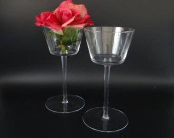 """Pair of Tall Clear Glass 8.5"""" Tall Vase Centerpiece Decor Tableware Table Setting - Table Decor"""