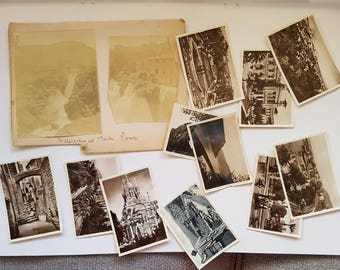 Vintage Photo Pack of San Remo Italy 10 photos (H), scenery, ephemera junk journals scrapbooks smashbook, sepia, black and white