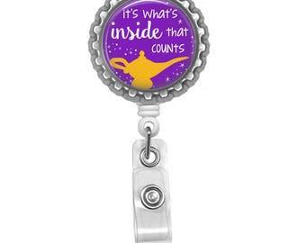 Disney inspired - ID badge reel - Aladin badge reel - Arabian nights - It's what's inside that counts - Nurse ID badge - Hospital staff gift