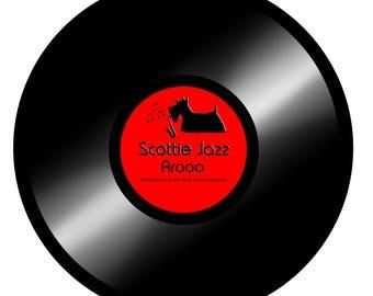 Scottie Dog 'Scottie Jazz' Art Print 10 X 8 Inches