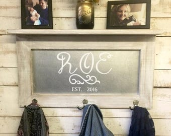ON SALE Personalized wall coat organizer-custom coat rack organize -custom gift-personalized coat rack-custom wall shelf-wood wall shelf-coa