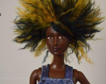 Ooak Barbie Fashionista repaint, reroot, faceup a/a Barbie doll repaint mattel faceup beautiful fashion ooak doll