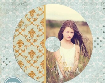 ON SALE NOW cd/dvd label for Senior photoshop template - vol.3 - Instant Download