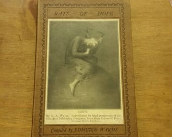 1929 - Rays of Hope - Small Vintage Book of Quotes and Poetry