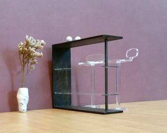 Contemporary Home COUNTER MEUBLE BAR 1:12 Scale,Modern style Design, Collectible Miniature Dollhouse Furniture