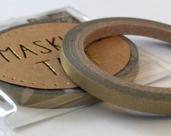 """Super Skinny Solid Color Washi Tape in """"Gold almost Matte"""" with a slight shimmer  4mm x 7meters"""
