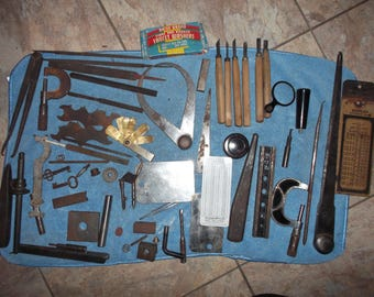 Lot of vintage tools, Tool and Die, Father's Estate, Carving tool, Wood Files, Father's Day Gift, Tool Dad, Early 1900,Old Tool,Cool Decor