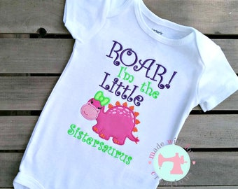 ROAR I'm the Big Sister/Little Sister Birthday Shirt-Sister of the Birthday Boy Shirt-Dinosaur Birthday Shirt-Dino Birthday Shirt