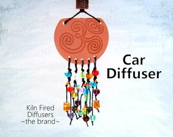 Extra Large Sun Catcher Om Car Diffuser Pendant Ornament Essential Oil Fancy Festive Colorful Aroma Clay Terracotta Air Freshener Aum Symbol