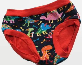 Childrens Undies - Colorful Dinosaurs - Size 6