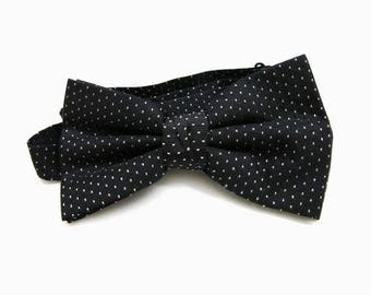 Silk bow tie | Vintage fashion | polka dots