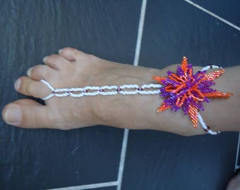 Bracelet ring anklet, tangy foot jewelry