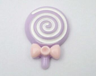 1 x purple lollipop resin cabochon