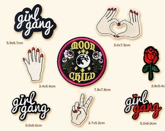 Girl Gang Patches (8 Pieces)