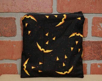 One Sandwich Bag, Reusable Lunch Bags, Waste-Free Lunch, Machine Washable, Pumpkin, Sandwich Sacks, item #SS76