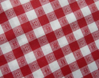 Vintage woven cotton fabric in new condition
