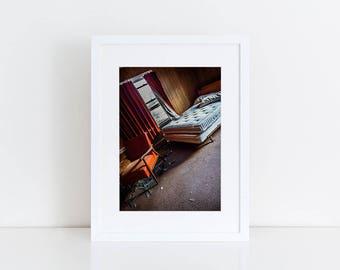 Abandoned Motel Room - Urban Exploration - Fine Art Photography Print