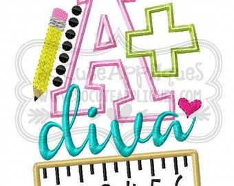 A+ Diva!!/ Back to School Shirts/ Embroidered T-shirt/ Toddler T-shirt/ School Shirts