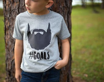 Beard Shirt - Kids Beard Shirt - Kids Tee - Beard Goals - Future Beard Shirt - Kids Beard - Boys Beard Shirt - Fathers Day Shirt - boy gift