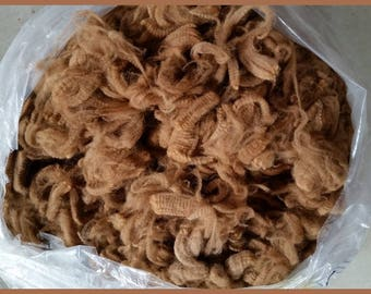 Raw Alpaca Fiber Medium Fawn 1 lb. Superfine
