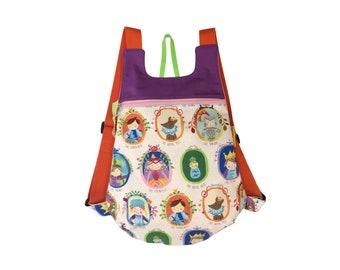 Fabric backpack, Princess backpack, girl backpack, children backpack, School backpack, children backpack, Kids backpack