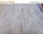 Spring Sale SPECIAL  Over 70 Yards of Angel White Chiffon, Light Chiffon   Huge Skein, Fair Trade