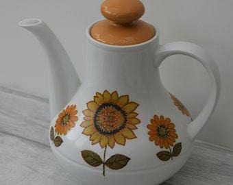 Alfred Meakin Sunflower Coffee Pot