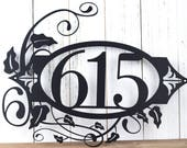 House Numbers Metal Sign | Custom House Number | Custom Address | Metal Wall Art | Outdoor House Number | Custom Sign | 3 Digit Only