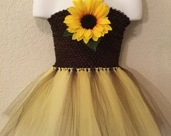 Sun flower tutu dress.