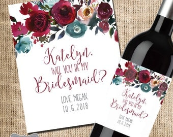 Will You Be My Bridesmaid Wine Label, Asking Bridesmaid Gift, Bridesmaid Proposal, Will You Be My Bridesmaid Box, Asking Bridesmaid, Wine