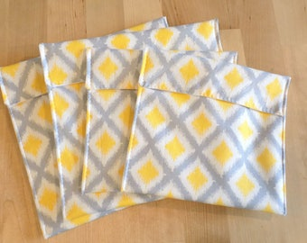 Reusable snack bags set of 4