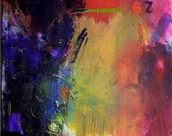 When Everything Changes - Original Abstract Acryllic painting on canvas