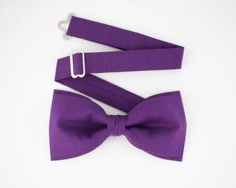 Galaxy Purple Bow Tie Pre Tied Bow Tie Ultra Violet Bow Tie for Men Wedding Bow Tie Gift for Men Groom Bow Tie Mens Bow Tie Bartek Design
