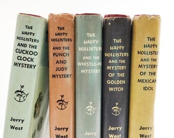 The Happy Hollisters | 5 Volume Set • Jerry West • instant collection • 1960's hardcover children's books