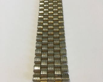 Vintage Kreisler Wide Goldtone Multi-Row Bracelet 1.11.1