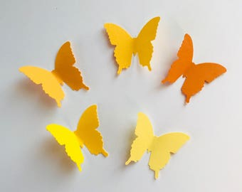 75 Citrus Colors Butterfly Die Cuts, Paper Butterfly, Baby Shower Decor, Butterfly Decorations, Wedding Decor